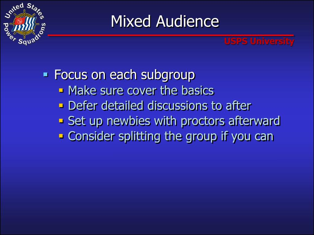 Mixed Audience