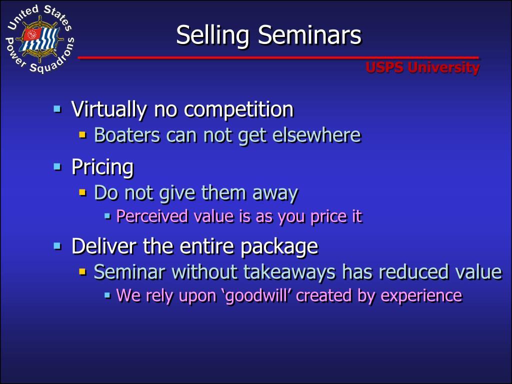 Selling Seminars
