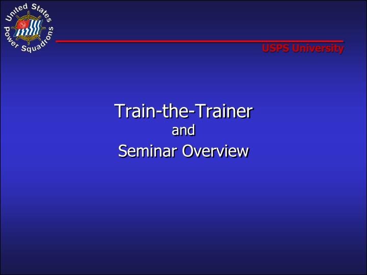 Train the trainer and