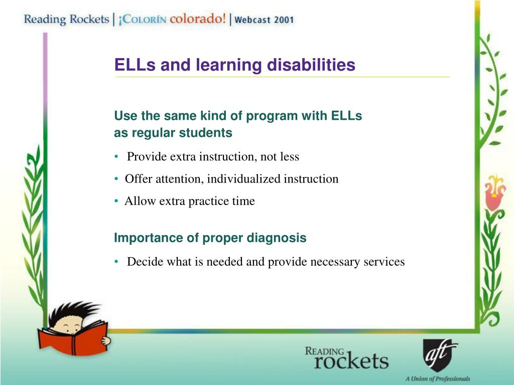 ELLs and learning disabilities