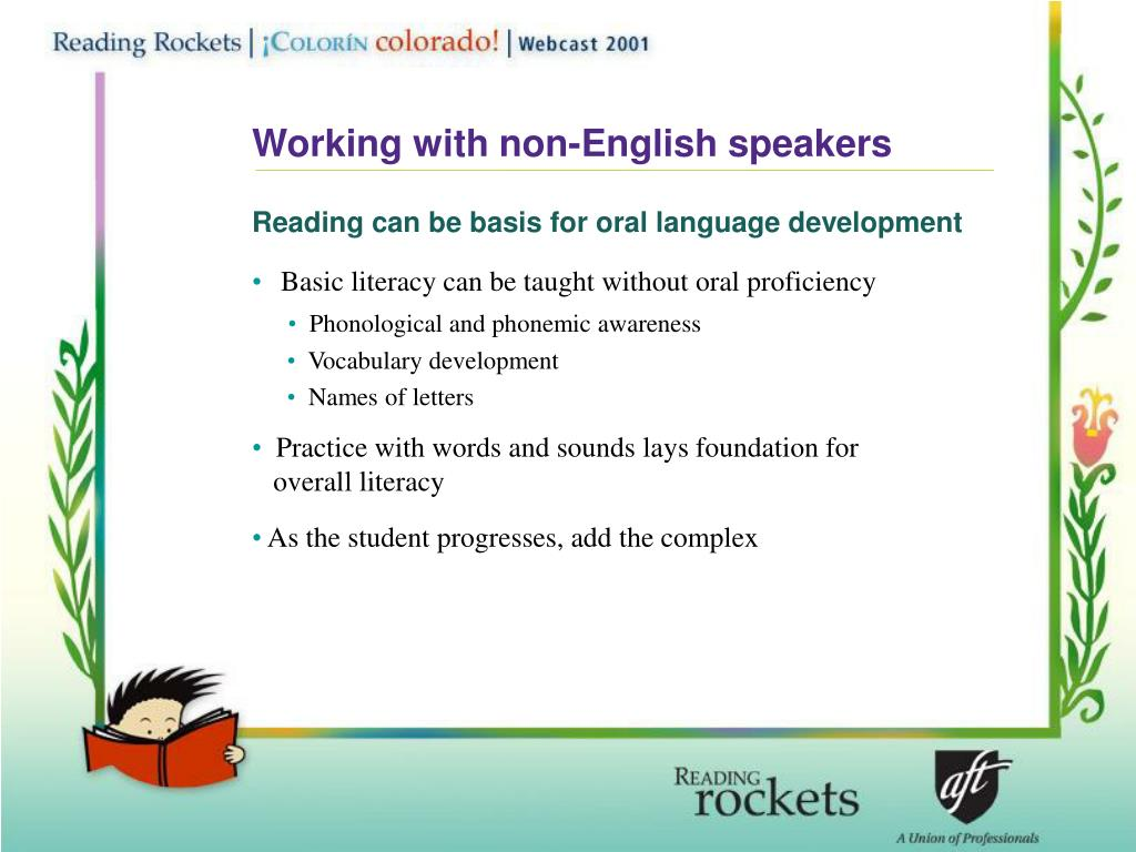 Working with non-English speakers