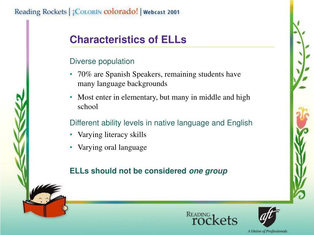 Characteristics of ELLs
