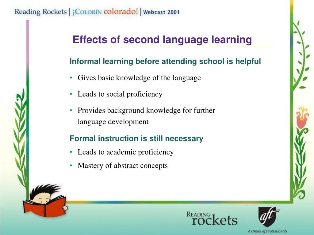 Effects of second language learning