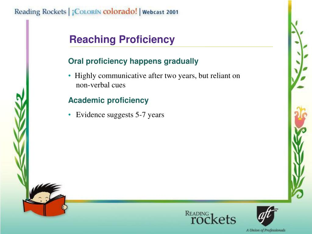 Reaching Proficiency