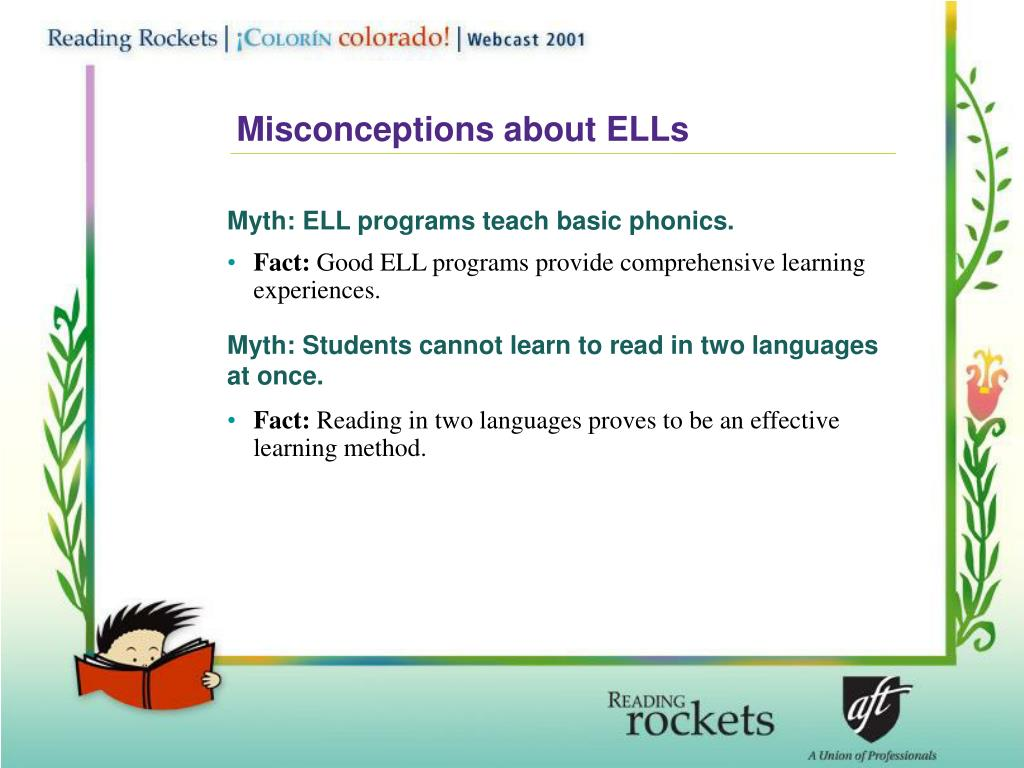Misconceptions about ELLs