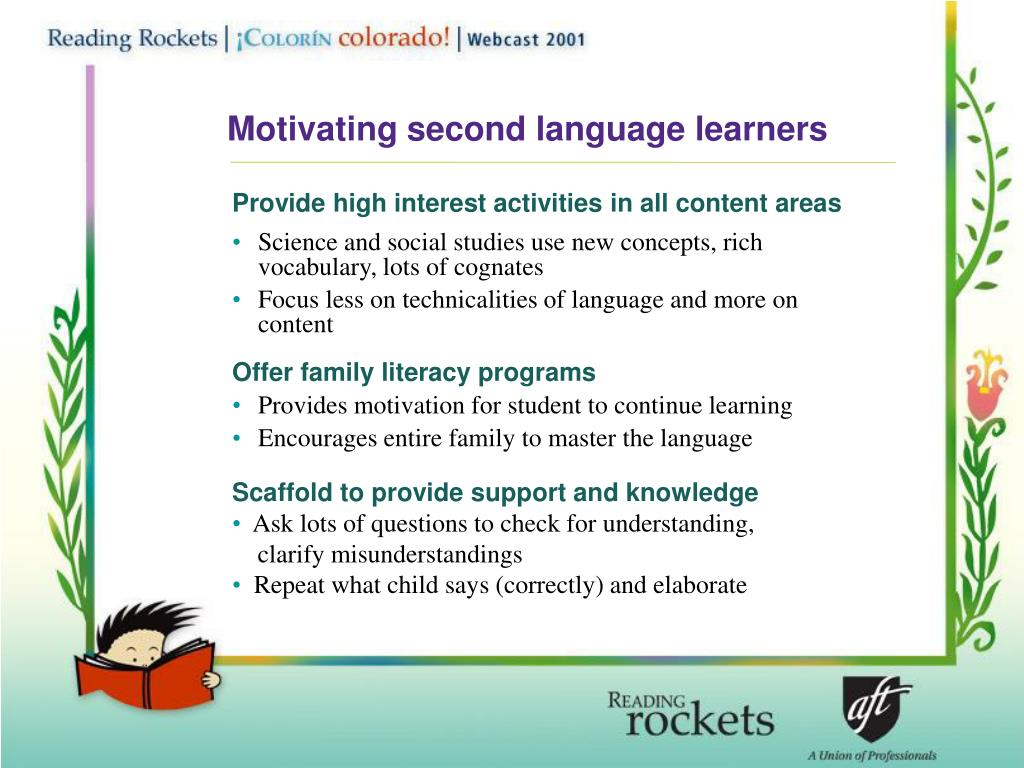 Motivating second language learners