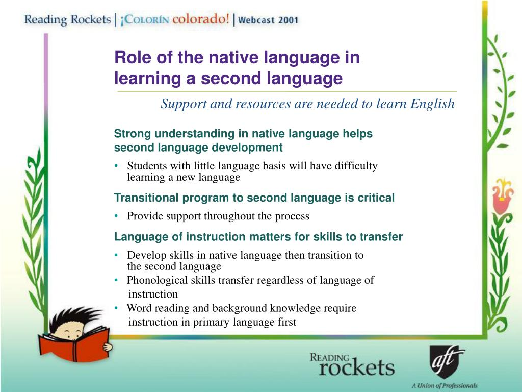 Role of the native language in