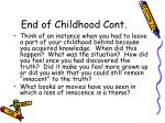 end of childhood cont13