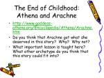 the end of childhood athena and arachne