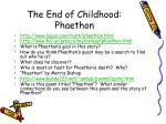 the end of childhood phaethon