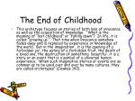 the end of childhood
