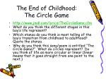 the end of childhood the circle game