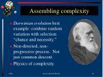 assembling complexity