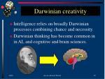 darwinian creativity