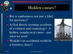 hidden causes