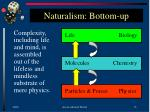 naturalism bottom up