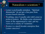 naturalism scientism