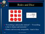 rules and dice