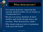 what about persons