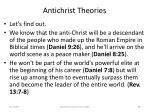 antichrist theories83