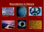boundaries in nature