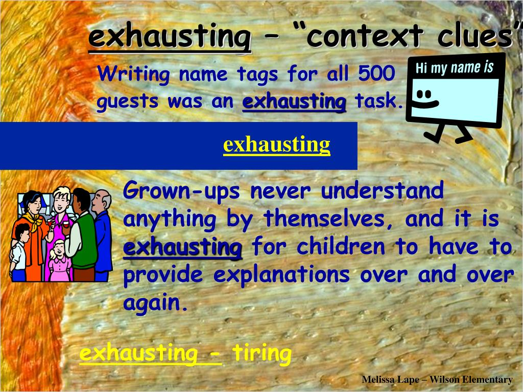 exhausting