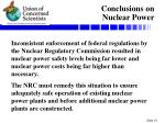 conclusions on nuclear power