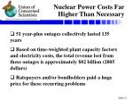nuclear power costs far higher than necessary