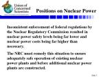 positions on nuclear power