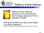 walking a nuclear tightrope