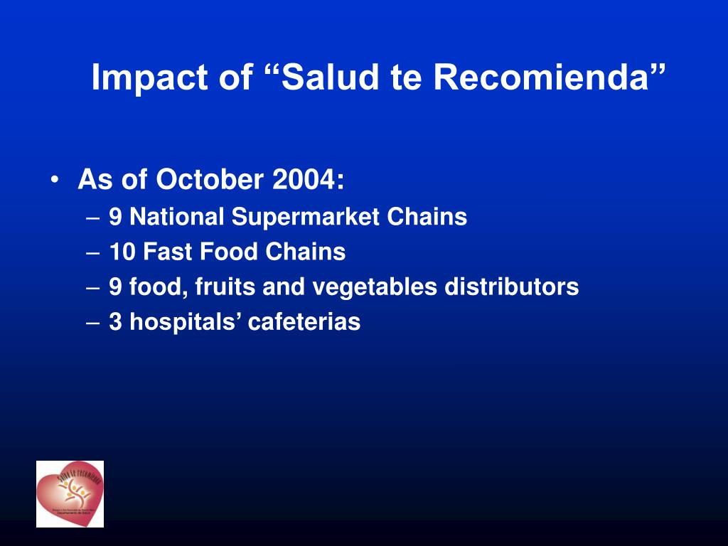 "Impact of ""Salud te Recomienda"""