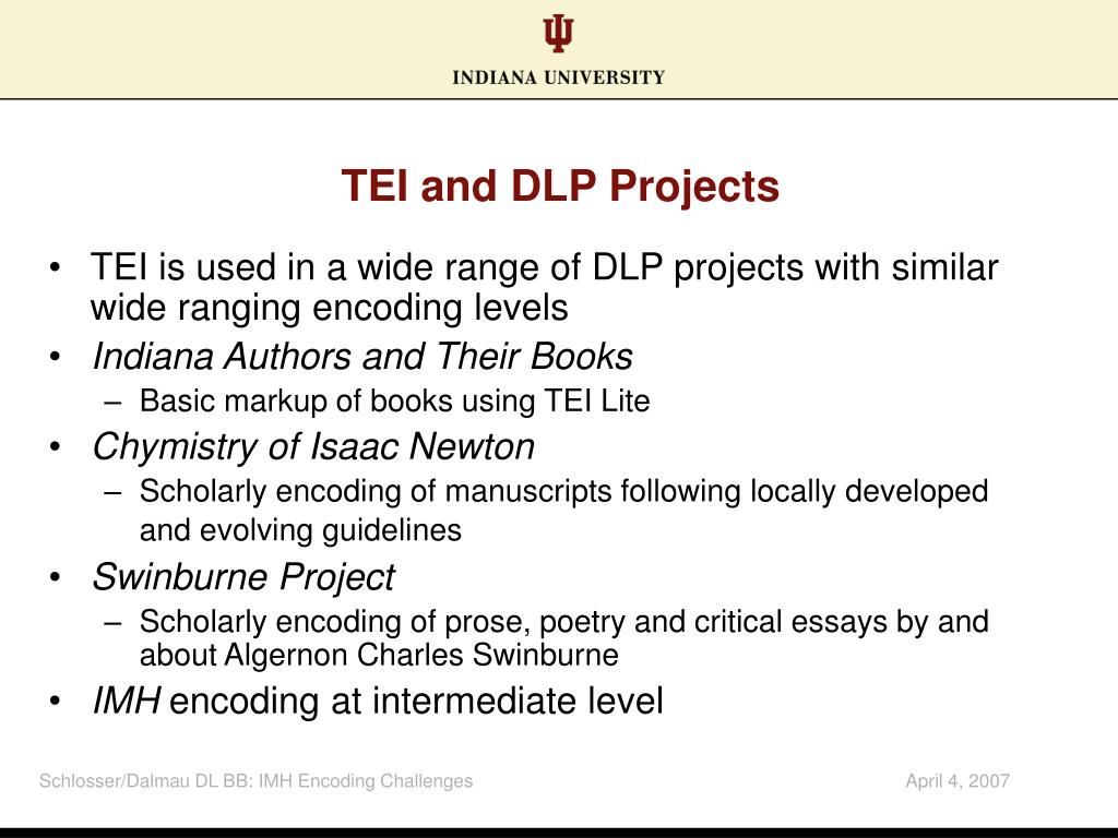 TEI and DLP Projects