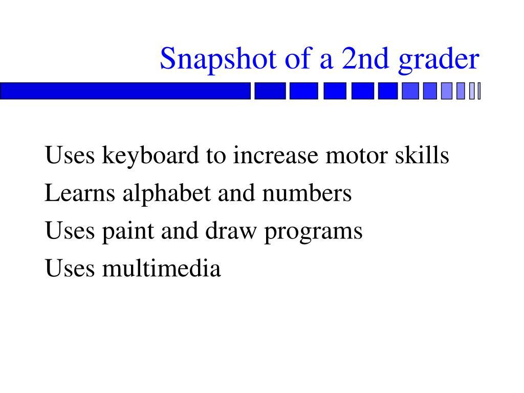 Snapshot of a 2nd grader