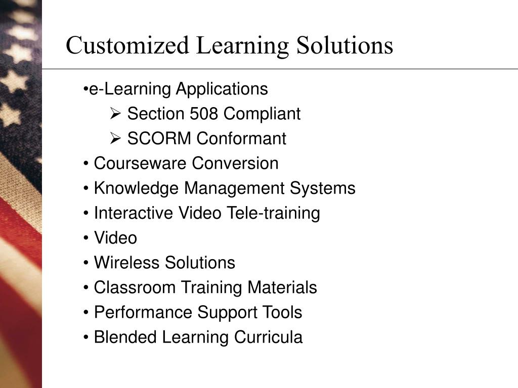 Customized Learning Solutions