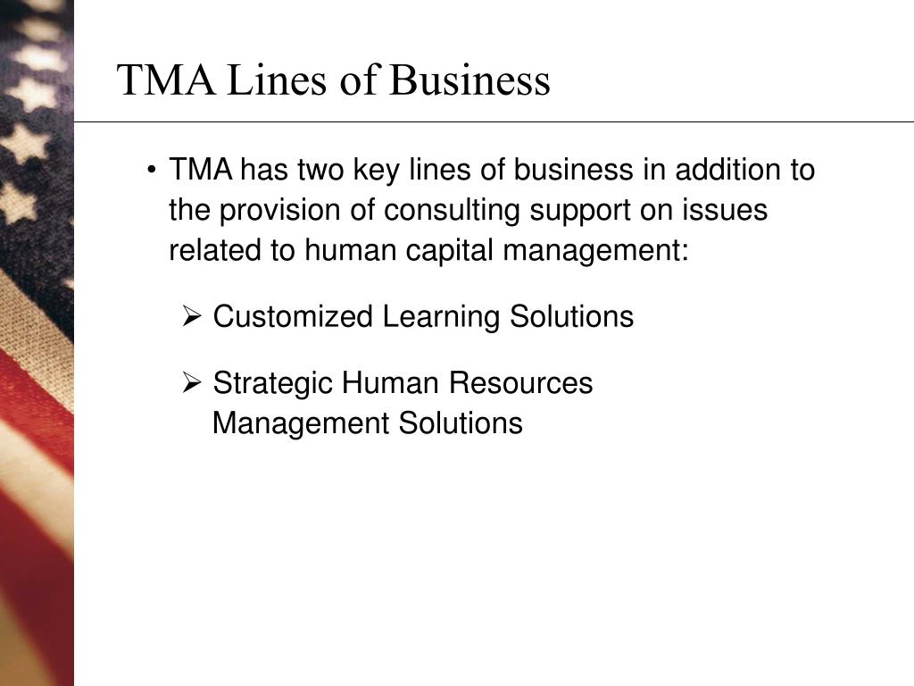 TMA Lines of Business