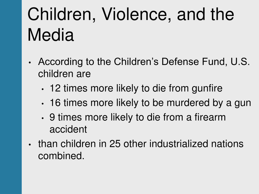 Children, Violence, and the Media