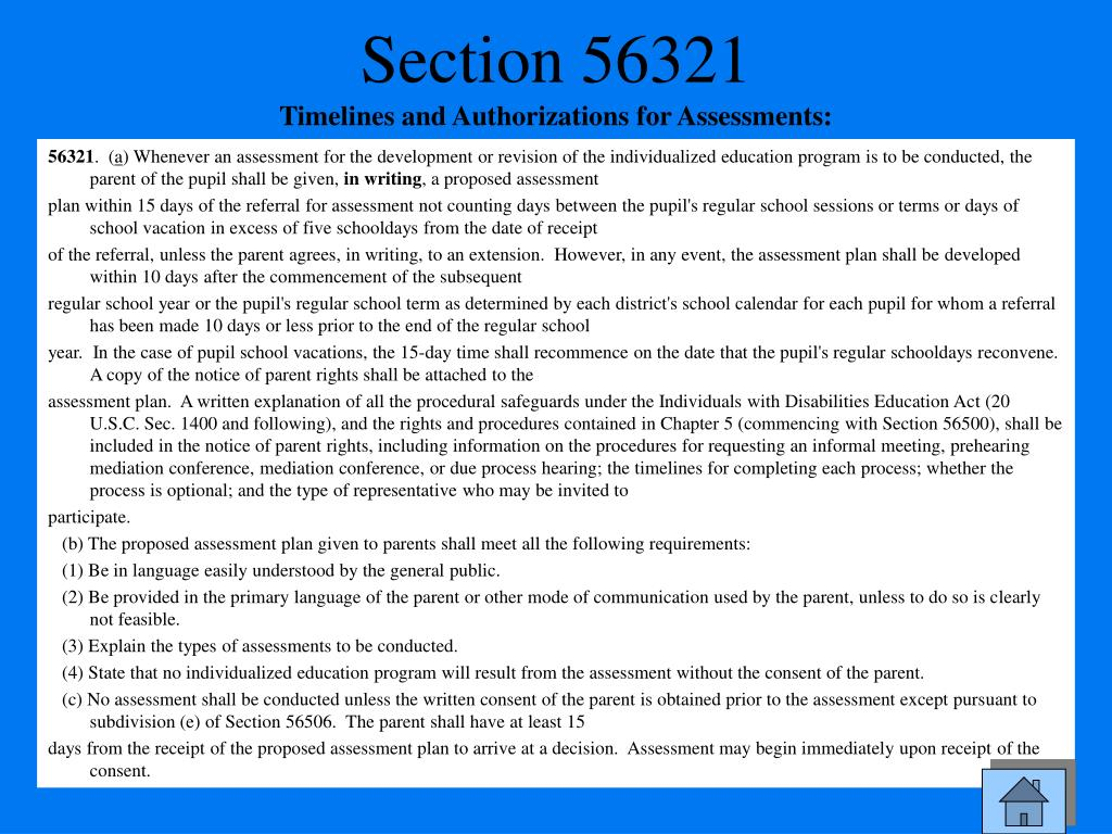 Section 56321