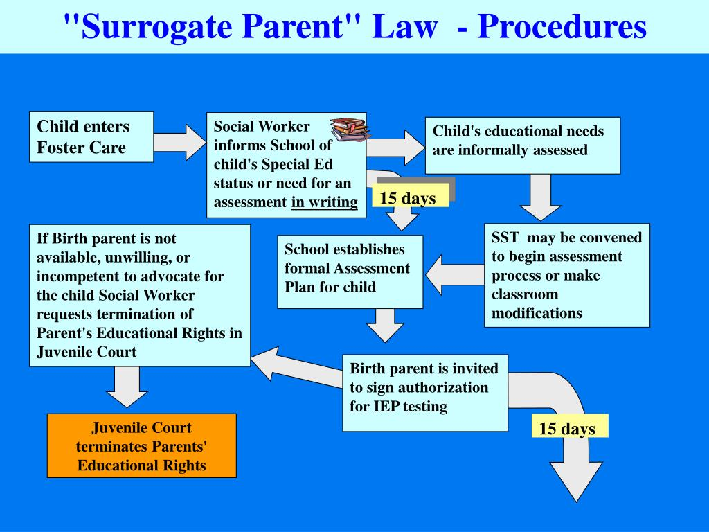 """""""Surrogate Parent"""" Law  - Procedures"""