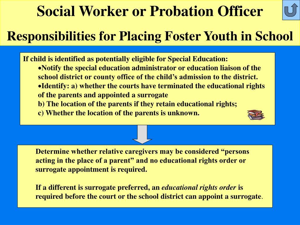 Social Worker or Probation Officer