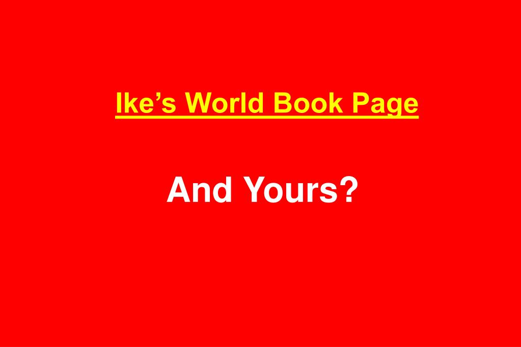 Ike's World Book Page
