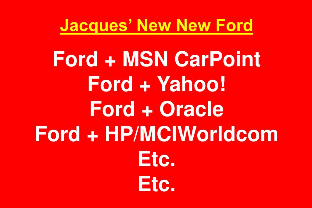 Jacques' New New Ford