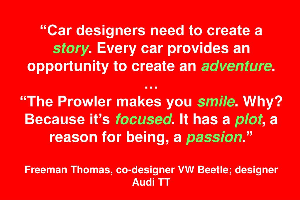 """Car designers need to create a"