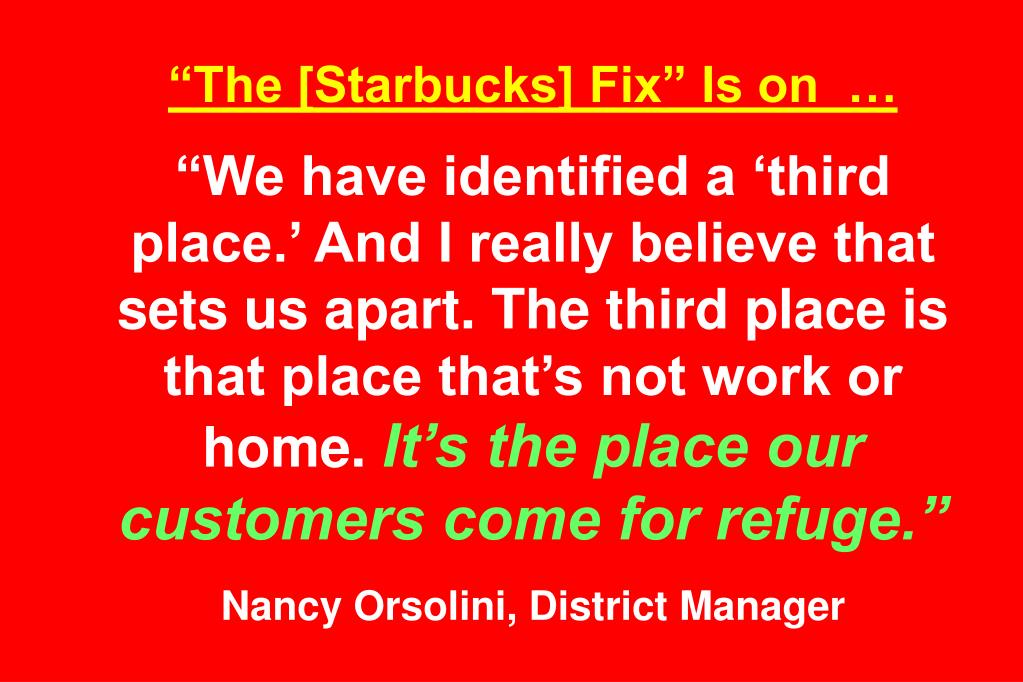 """The [Starbucks] Fix"" Is on  …"