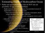 estimating depth of hydrocarbon ocean