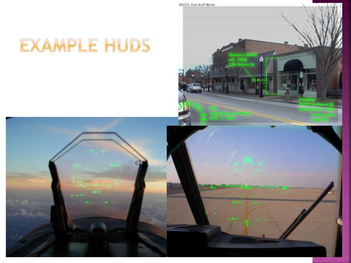 Example huds