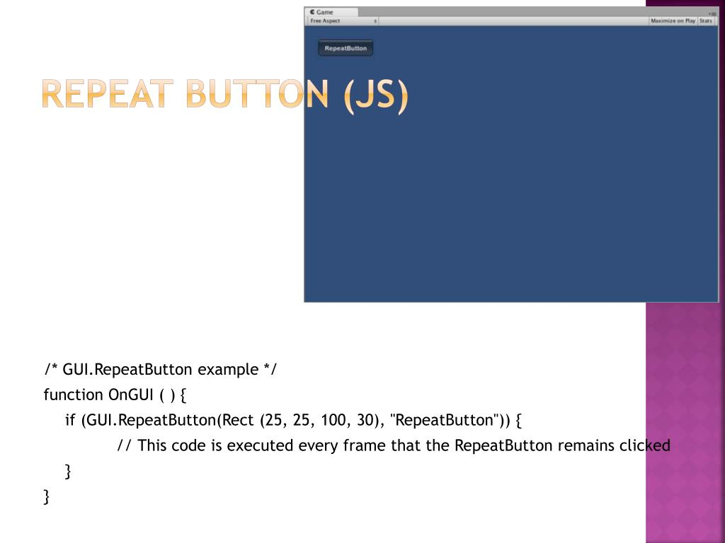 Repeat button (JS)