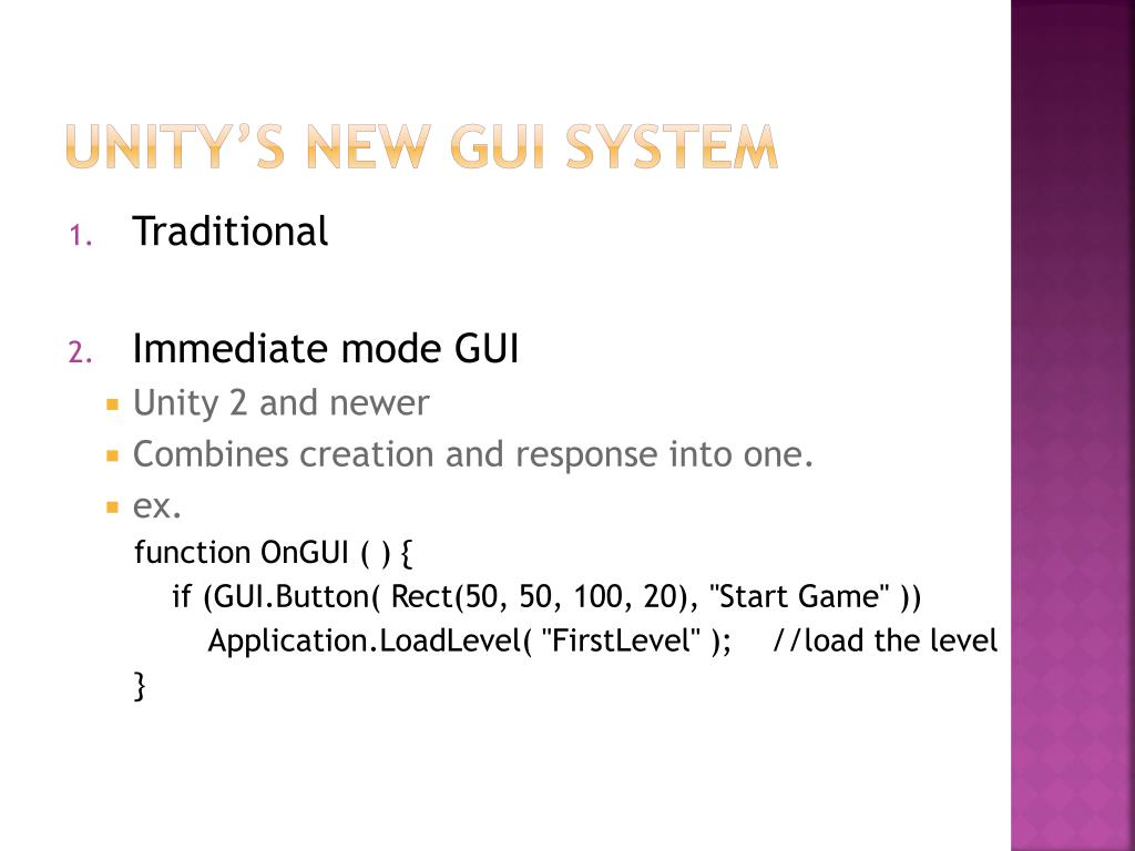 Unity's new GUI system
