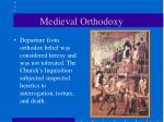 medieval orthodoxy