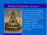 modern economic system