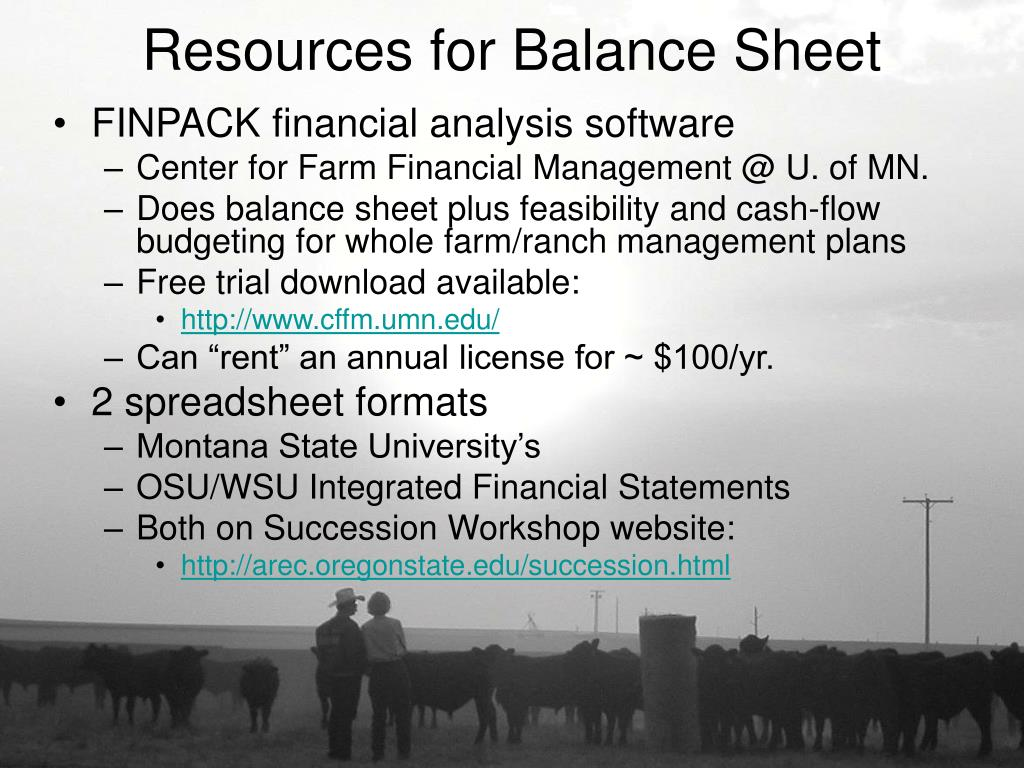 Resources for Balance Sheet